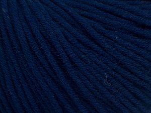 Fiber Content 50% Cotton, 50% Acrylic, Navy, Brand Ice Yarns, Yarn Thickness 3 Light  DK, Light, Worsted, fnt2-62747