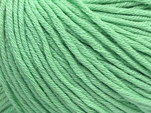 Fiber Content 50% Cotton, 50% Acrylic, Mint Green, Brand Ice Yarns, Yarn Thickness 3 Light  DK, Light, Worsted, fnt2-62750