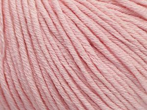 Fiber Content 50% Cotton, 50% Acrylic, Brand ICE, Baby Pink, Yarn Thickness 3 Light  DK, Light, Worsted, fnt2-62753