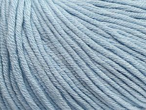 Fiber Content 50% Cotton, 50% Acrylic, Light Blue, Brand Ice Yarns, Yarn Thickness 3 Light  DK, Light, Worsted, fnt2-62754