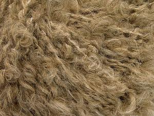Fiber Content 45% Acrylic, 25% Wool, 20% Mohair, 10% Polyamide, Light Brown, Brand Ice Yarns, Yarn Thickness 4 Medium  Worsted, Afghan, Aran, fnt2-62852
