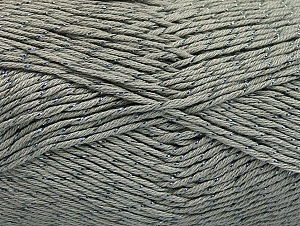 Fiber Content 49% Premium Acrylic, 49% Cotton, 2% Metallic Lurex, Brand Ice Yarns, Grey, Yarn Thickness 2 Fine  Sport, Baby, fnt2-62886