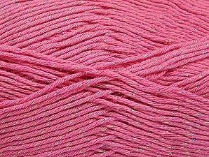 Fiber Content 49% Premium Acrylic, 49% Cotton, 2% Metallic Lurex, Pink, Brand Ice Yarns, Yarn Thickness 2 Fine  Sport, Baby, fnt2-62889