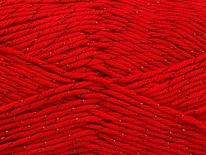Fiber Content 49% Premium Acrylic, 49% Cotton, 2% Metallic Lurex, Red, Brand Ice Yarns, Yarn Thickness 2 Fine  Sport, Baby, fnt2-62891