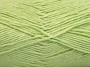 Fiber Content 49% Premium Acrylic, 49% Cotton, 2% Metallic Lurex, Light Green, Brand Ice Yarns, Yarn Thickness 2 Fine  Sport, Baby, fnt2-62893