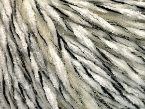 Fiber Content 85% Acrylic, 15% Wool, White, Brand Ice Yarns, Cream, Black, Yarn Thickness 4 Medium  Worsted, Afghan, Aran, fnt2-62963