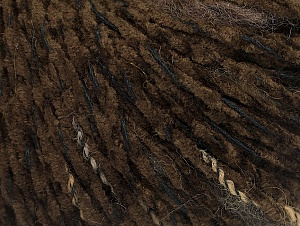 Fiber Content 85% Acrylic, 15% Wool, Brand Ice Yarns, Dark Brown, Black, Yarn Thickness 4 Medium  Worsted, Afghan, Aran, fnt2-62967