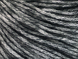 Fiber Content 85% Acrylic, 15% Bamboo, White, Brand Ice Yarns, Black, Yarn Thickness 4 Medium  Worsted, Afghan, Aran, fnt2-62991