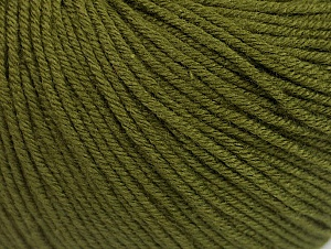 Fiber Content 60% Cotton, 40% Acrylic, Brand Ice Yarns, Dark Khaki, Yarn Thickness 2 Fine  Sport, Baby, fnt2-63001