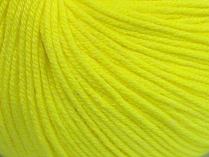 Fiber Content 60% Cotton, 40% Acrylic, Neon Yellow, Brand Ice Yarns, Yarn Thickness 2 Fine  Sport, Baby, fnt2-63004