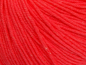 Fiber Content 60% Cotton, 40% Acrylic, Neon Salmon, Brand Ice Yarns, Yarn Thickness 2 Fine  Sport, Baby, fnt2-63006