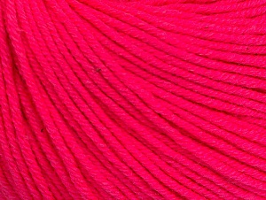 Fiber Content 60% Cotton, 40% Acrylic, Neon Pink, Brand Ice Yarns, Yarn Thickness 2 Fine  Sport, Baby, fnt2-63008
