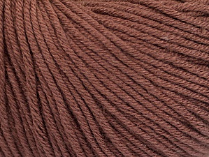 Fiber Content 60% Cotton, 40% Acrylic, Brand Ice Yarns, Brown, Yarn Thickness 2 Fine  Sport, Baby, fnt2-63012