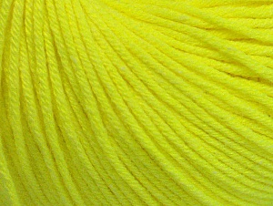 Fiber Content 60% Cotton, 40% Acrylic, Neon Yellow, Brand Ice Yarns, Yarn Thickness 2 Fine  Sport, Baby, fnt2-63016