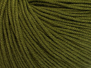 Fiber Content 60% Cotton, 40% Acrylic, Brand Ice Yarns, Dark Khaki, Yarn Thickness 2 Fine  Sport, Baby, fnt2-63019