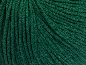 Fiber Content 60% Cotton, 40% Acrylic, Brand Ice Yarns, Dark Green, Yarn Thickness 2 Fine Sport, Baby, fnt2-63020