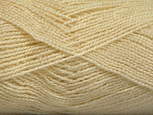 Fiber Content 100% Acrylic, Brand Ice Yarns, Cream, Yarn Thickness 1 SuperFine  Sock, Fingering, Baby, fnt2-63091