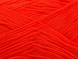 Fiber Content 100% Acrylic, Neon Orange, Brand Ice Yarns, Yarn Thickness 1 SuperFine  Sock, Fingering, Baby, fnt2-63092