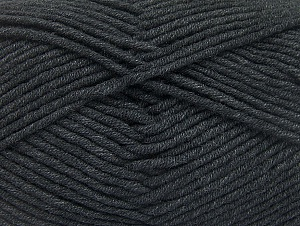 Fiber Content 55% Cotton, 45% Acrylic, Brand Ice Yarns, Anthracite Black, Yarn Thickness 4 Medium  Worsted, Afghan, Aran, fnt2-63096