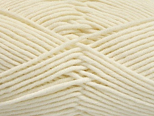Fiber Content 55% Cotton, 45% Acrylic, Brand Ice Yarns, Ecru, Yarn Thickness 4 Medium  Worsted, Afghan, Aran, fnt2-63097
