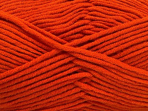 Fiber Content 55% Cotton, 45% Acrylic, Orange, Brand Ice Yarns, Yarn Thickness 4 Medium  Worsted, Afghan, Aran, fnt2-63098