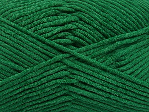 Fiber Content 55% Cotton, 45% Acrylic, Brand Ice Yarns, Dark Green, Yarn Thickness 4 Medium  Worsted, Afghan, Aran, fnt2-63099