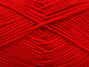 Fiber Content 55% Cotton, 45% Acrylic, Tomato Red, Brand Ice Yarns, Yarn Thickness 4 Medium  Worsted, Afghan, Aran, fnt2-63100