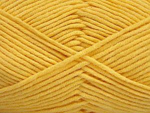 Fiber Content 55% Cotton, 45% Acrylic, Yellow, Brand Ice Yarns, Yarn Thickness 4 Medium  Worsted, Afghan, Aran, fnt2-63103