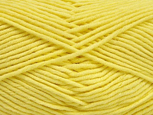 Fiber Content 55% Cotton, 45% Acrylic, Light Yellow, Brand Ice Yarns, Yarn Thickness 4 Medium  Worsted, Afghan, Aran, fnt2-63104
