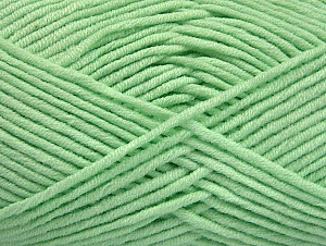 Fiber Content 55% Cotton, 45% Acrylic, Mint Green, Brand Ice Yarns, Yarn Thickness 4 Medium  Worsted, Afghan, Aran, fnt2-63105