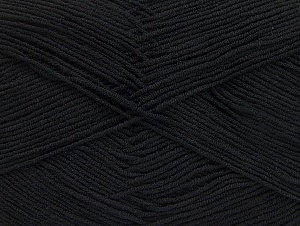 Fiber Content 55% Cotton, 45% Acrylic, Brand Ice Yarns, Black, Yarn Thickness 1 SuperFine  Sock, Fingering, Baby, fnt2-63106