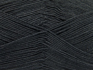 Fiber Content 55% Cotton, 45% Acrylic, Brand Ice Yarns, Anthracite Black, Yarn Thickness 1 SuperFine  Sock, Fingering, Baby, fnt2-63107