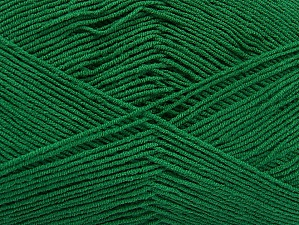 Fiber Content 55% Cotton, 45% Acrylic, Brand Ice Yarns, Dark Green, Yarn Thickness 1 SuperFine  Sock, Fingering, Baby, fnt2-63114