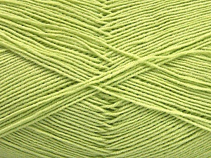 Fiber Content 55% Cotton, 45% Acrylic, Light Green, Brand Ice Yarns, Yarn Thickness 1 SuperFine  Sock, Fingering, Baby, fnt2-63118