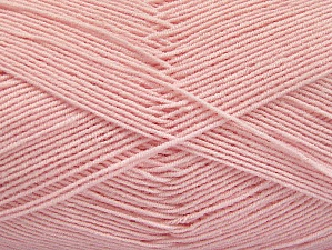Fiber Content 55% Cotton, 45% Acrylic, Brand Ice Yarns, Baby Pink, Yarn Thickness 1 SuperFine  Sock, Fingering, Baby, fnt2-63119