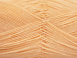 Fiber Content 55% Cotton, 45% Acrylic, Light Orange, Brand Ice Yarns, Yarn Thickness 1 SuperFine  Sock, Fingering, Baby, fnt2-63120