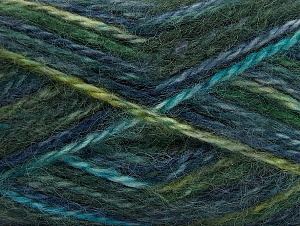 SuperBulky  Fiber Content 70% Acrylic, 30% Angora, Turquoise, Navy, Brand Ice Yarns, Green, Yarn Thickness 6 SuperBulky  Bulky, Roving, fnt2-63137