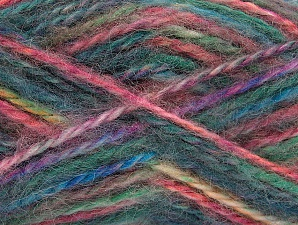 SuperBulky  Fiber Content 70% Acrylic, 30% Angora, Teal, Pink, Brand Ice Yarns, Green, Gold, Blue, Yarn Thickness 6 SuperBulky  Bulky, Roving, fnt2-63139
