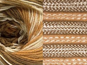 Fiber Content 70% Acrylic, 30% Wool, Light Brown, Brand Ice Yarns, Cream, Camel, Yarn Thickness 3 Light  DK, Light, Worsted, fnt2-63206