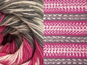 Fiber Content 70% Acrylic, 30% Wool, Pink, Brand Ice Yarns, Grey, Cream, Yarn Thickness 3 Light  DK, Light, Worsted, fnt2-63208