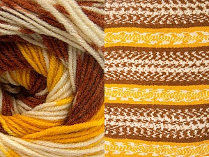 Fiber Content 70% Acrylic, 30% Wool, Yellow, Brand Ice Yarns, Cream, Copper, Yarn Thickness 3 Light  DK, Light, Worsted, fnt2-63209