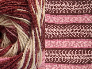 Fiber Content 70% Acrylic, 30% Wool, Pink, Brand Ice Yarns, Cream, Burgundy, Yarn Thickness 3 Light  DK, Light, Worsted, fnt2-63213