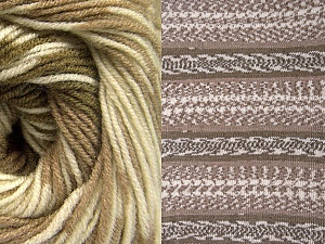 Fiber Content 70% Acrylic, 30% Wool, Khaki, Brand Ice Yarns, Cream, Camel, Yarn Thickness 3 Light  DK, Light, Worsted, fnt2-63214