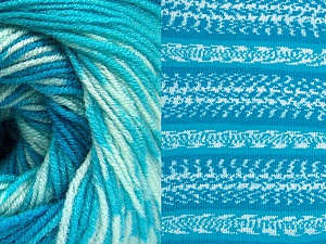 Fiber Content 70% Acrylic, 30% Wool, Turquoise Shades, Brand Ice Yarns, Yarn Thickness 3 Light  DK, Light, Worsted, fnt2-63215