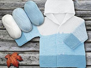 Fiber Content 100% Antipilling Acrylic, White, Brand Ice Yarns, Baby Blue, Yarn Thickness 4 Medium  Worsted, Afghan, Aran, fnt2-63242