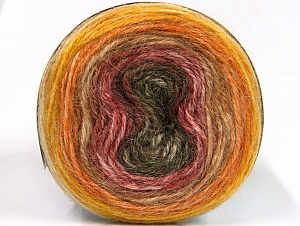 Fiber Content 50% Premium Acrylic, 25% Wool, 25% Alpaca, Yellow, Pink, Brand Ice Yarns, Gold, Brown, Yarn Thickness 3 Light  DK, Light, Worsted, fnt2-63271