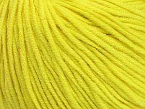 Fiber Content 50% Acrylic, 50% Cotton, Neon Yellow, Brand Ice Yarns, Yarn Thickness 3 Light  DK, Light, Worsted, fnt2-63342