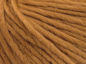 Fiber Content 100% Wool, Light Brown, Brand Ice Yarns, Yarn Thickness 5 Bulky  Chunky, Craft, Rug, fnt2-63346