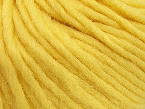 Fiber Content 100% Wool, Light Yellow, Brand Ice Yarns, Yarn Thickness 5 Bulky  Chunky, Craft, Rug, fnt2-63347