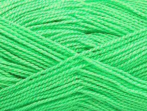 Fiber Content 100% Acrylic, Neon Green, Brand Ice Yarns, Yarn Thickness 1 SuperFine  Sock, Fingering, Baby, fnt2-63388